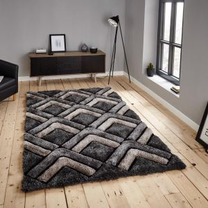 Noble House NH8199 Grey Rug by Think Rugs