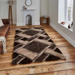 Noble House NH9716 Beige/Brown Rug by Think Rugs