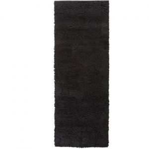 Nordic Cariboo Black Plain Runner By Flair Rugs