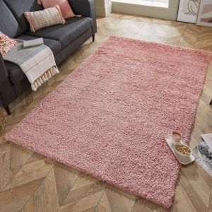 Nordic Cariboo Blush Plain Shaggy Rug by Flair Rugs