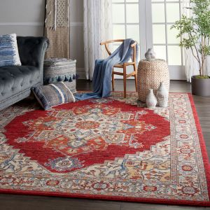 Nourison Majestic MST05 Red Wool Rug