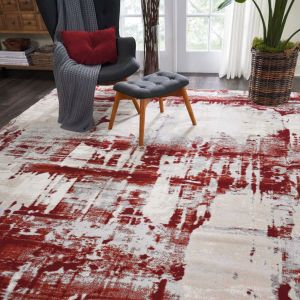 Nourison Maxell MAE14 Ivory Red Rug