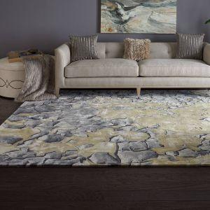 Nourison PRS02 Prismatic Beige Silver Wool Rug