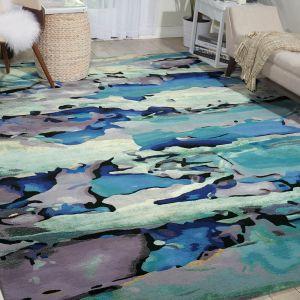 Nourison PRS04 Prismatic Seaglass Wool Rug