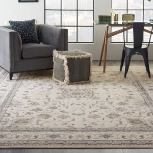 Nourison Silky Textures SLY08 Ivory Grey Rug