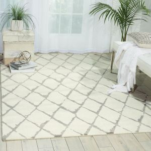 Nourison TWI15 Twilight Ivory Grey Wool Rug