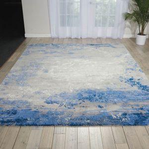 Nourison TWI22 Twilight Blue Grey Wool Rug