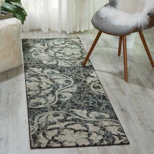 Nourison Maxell MAE10 Ivory Charcoal Runner