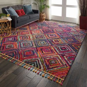 Nourison Nomad NMD01 Red Multicolored Rug