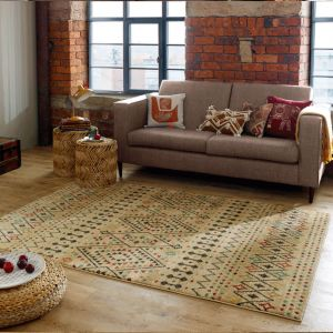 Nova Odine Natural Traditional Rug by Flair Rugs