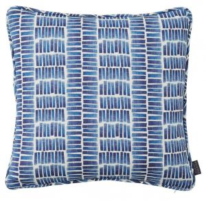 Ocean Indigo Striped Cushion by Claire Gaudion