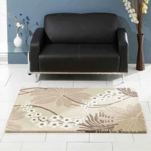 Ohelo Oatmeal Floral Rugs By Ultimate Rug 1