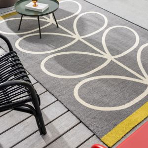 Giant Linear Stem 460605 Slate Rug by Orla Kiely