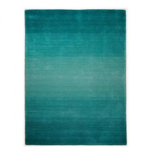 Ombre - Turquoise 720 Wool Comfort Harmony Rug by Theko