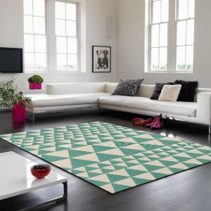 Onix ON09 Triangles Teal Rug By Asiatic