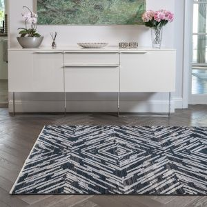 Onyx ONX02 Midnight Geometric Rug by Concept Looms