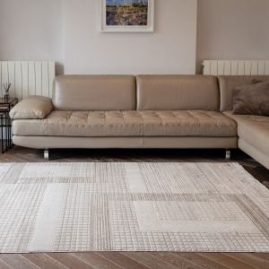 Onyx ONX04 Silver Geometric Rug by Concept Looms