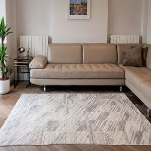 Onyx ONX09 Silver Abstract Rug by Concept Looms