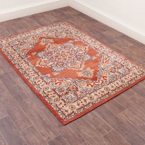 Orient 8917 Terracotta Traditional Rug by Ultimate Rug