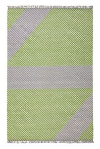 Oslo OSL702 Lime Striped Rug by Concept Looms