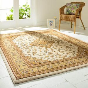 Ottoman Temple Cream Traditional Rug By Flair Rugs 1