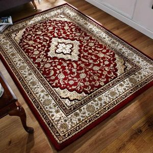Ottoman Temple Red Traditional Rug By Flair Rugs 1
