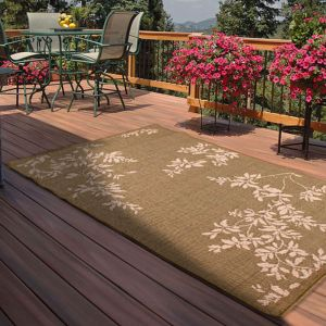 Outdoor Leaves Green Rug by Rug Style