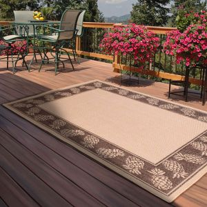 Outdoor Pineapple Charcoal Rug by Rug Style