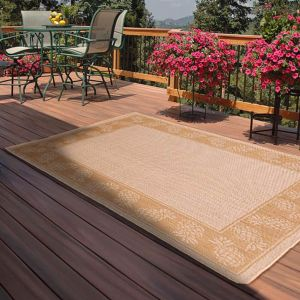 Outdoor Pineapple Natural Rug by Rug Style