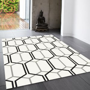 Patio PAT08 ivory Geometric Rug By Asiatic 1