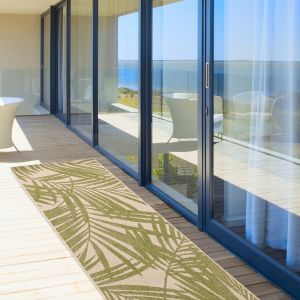 Patio PAT15 Green Palm Runner by Asiatic