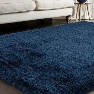 Payton Navy Plain Rug by Asiatic