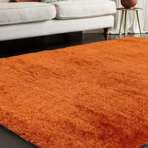 Payton Orange Plain Rug by Asiatic