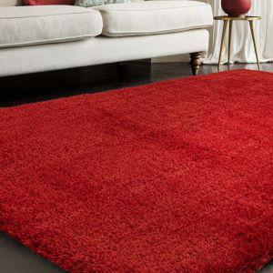 Payton Red Plain Rug by Asiatic