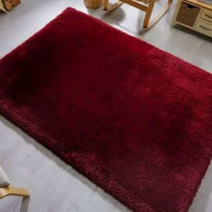 Pearl Claret Plain Shaggy Rug by Flair Rugs