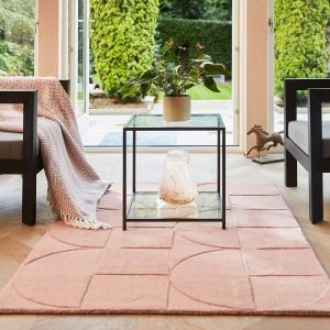 Penny Blush Geometric Wool Rug by Origins