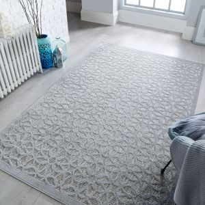 Piatto Argento Silver Runner by Flair Rugs