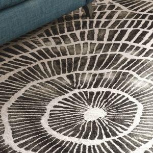 Piedra Charcoal Handtufted Wool Rug by William Yeoward