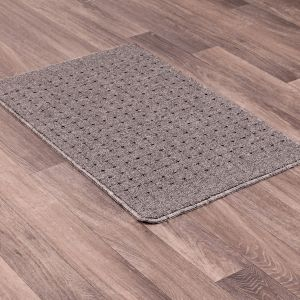 Pin Dot Grey Washable Mat by Rug Style