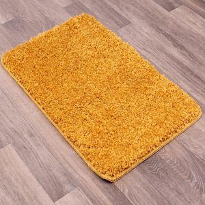 Pinnacle Washable Gold Plain Shaggy Rug by Rug Style