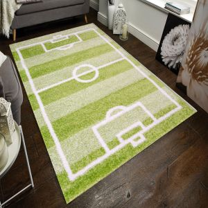 Play Days Football Pitch Green Kids Rug by Flair Rugs