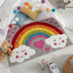 Play Days Rainbow For Heroes Multi Kids Rug by Flair Rugs