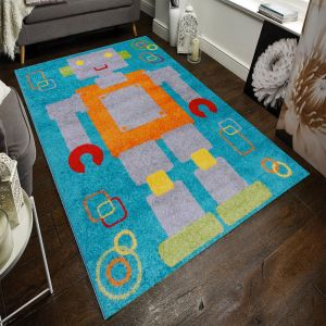 Play Days Robot Multi Kids Rug by Flair Rugs