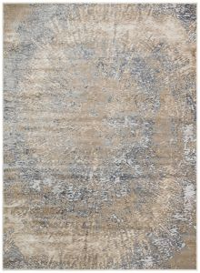 Pollo POL109 Grey Taupe Abstract Rug by Concept Looms