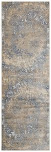 Pollo POL109 Grey Taupe Abstract Runner by Concept Looms