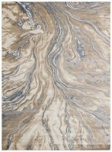 Pollo POL110 Taupe Grey Abstract Rug by Concept Looms