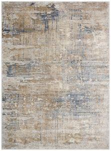 Pollo POLL104 Silver Grey Abstract Rug by Concept Looms