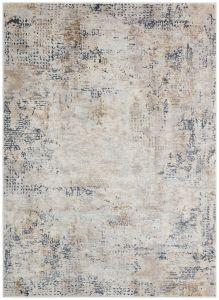 Pollo POLL106 Silver Grey Abstract Rug by Concept Looms