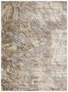 Pollo POLL107 Taupe Grey Abstract Rug by Concept Looms