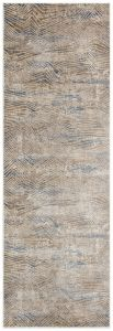 Pollo POLL108 Taupe Grey Abstract Runner by Concept Looms